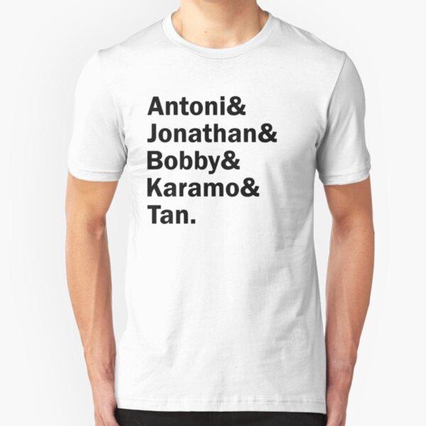 Queer Eye, The fab 5. (In black, version 2) Slim Fit T-Shirt