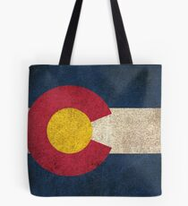 Old and Worn Distressed Vintage Flag of Colorado Tote Bag