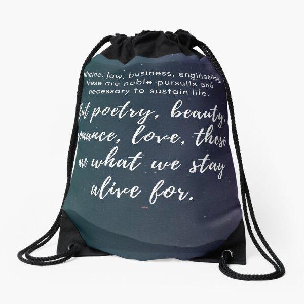 Stars Quotation (Dead Poets Society) Drawstring Bag