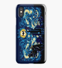 Vampire Starry night digital art iPhone Case/Skin
