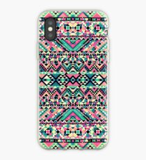 Pink Turquoise Girly Aztec Andes Tribal Pattern iPhone Case