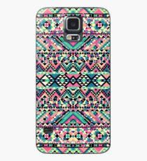Pink Turquoise Girly Aztec Andes Tribal Pattern Case/Skin for Samsung Galaxy