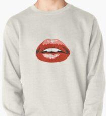 Digital Lip Drawing Pullover Sweatshirt