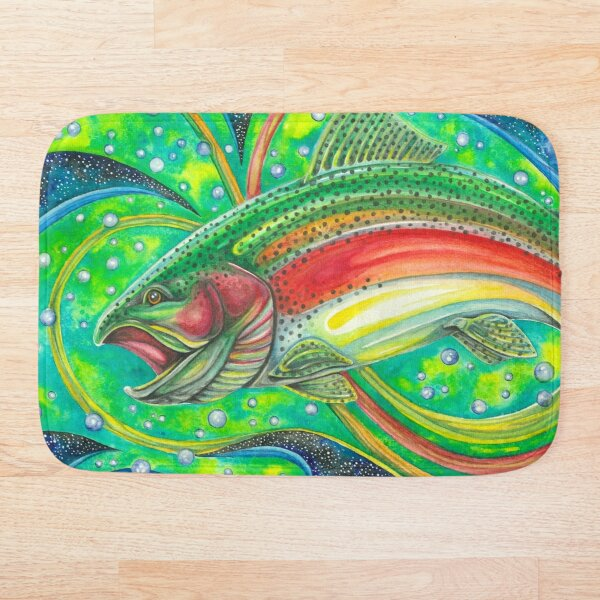 Cosmic Trout Bath Mat