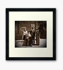A Vintage Walk Framed Print