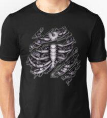 Steampunk terminator Cyborg robot body torn tee tshirt T-Shirt