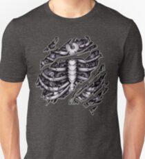 Steampunk-Terminator Cyborg-Roboterkörper zerrissenes T-Stück T-Shirt Slim Fit T-Shirt