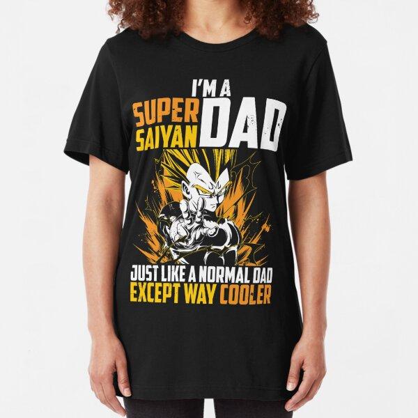 Super Saiyan dad vegeta t shirt Slim Fit T-Shirt