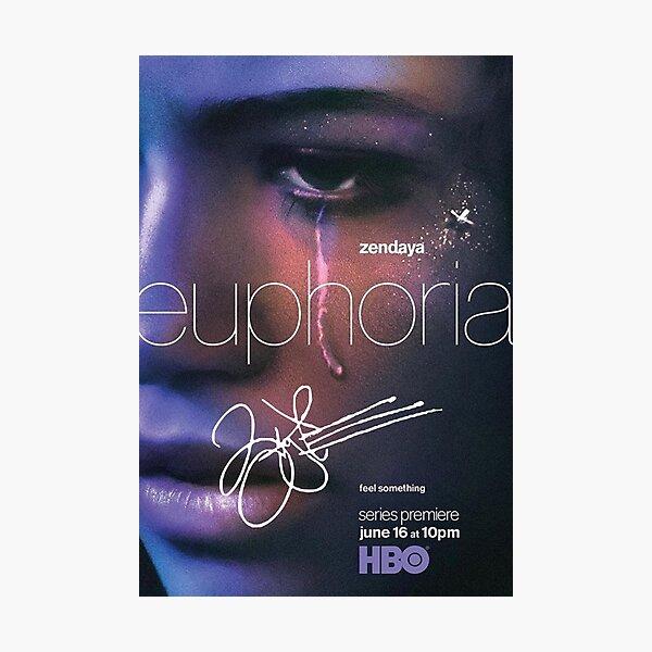 """Zendaya Signed """"Euphoria"""" Poster Photographic Print"""