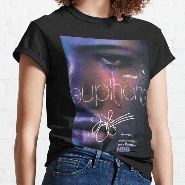 "Zendaya firmó el cartel de ""Euforia"" Camiseta clásica"