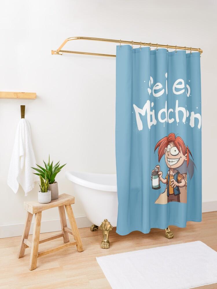 Alternative Ansicht von Sei ein Mädchen - Cover Duschvorhang