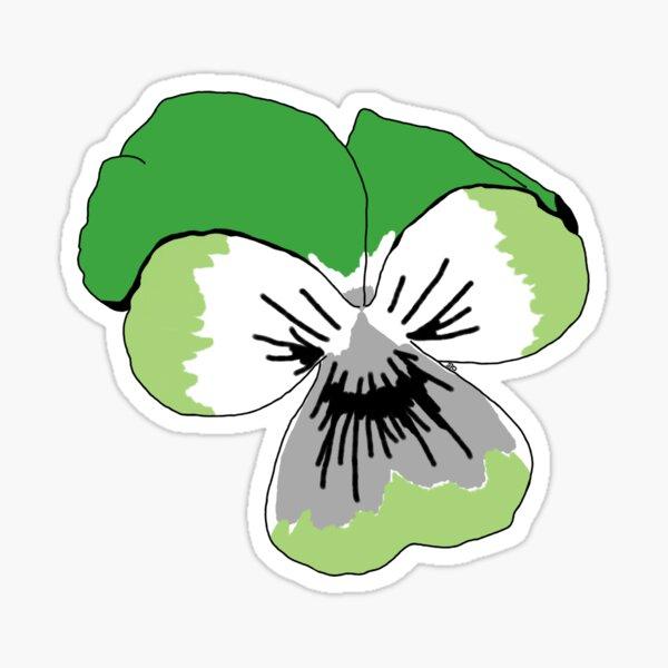 Aromantic Pride Flower Sticker