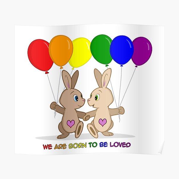 Skip and Pip (aka the Pride Bunnies) Pride 2016 Poster