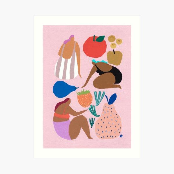 Pink Pear Art Print