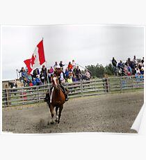Galloping Flag Poster