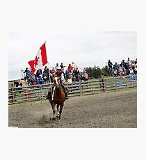 Galloping Flag Photographic Print