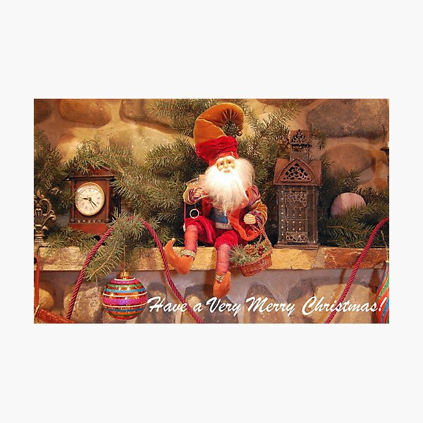 Have a Very Merry Christmas - Card Photographic Print