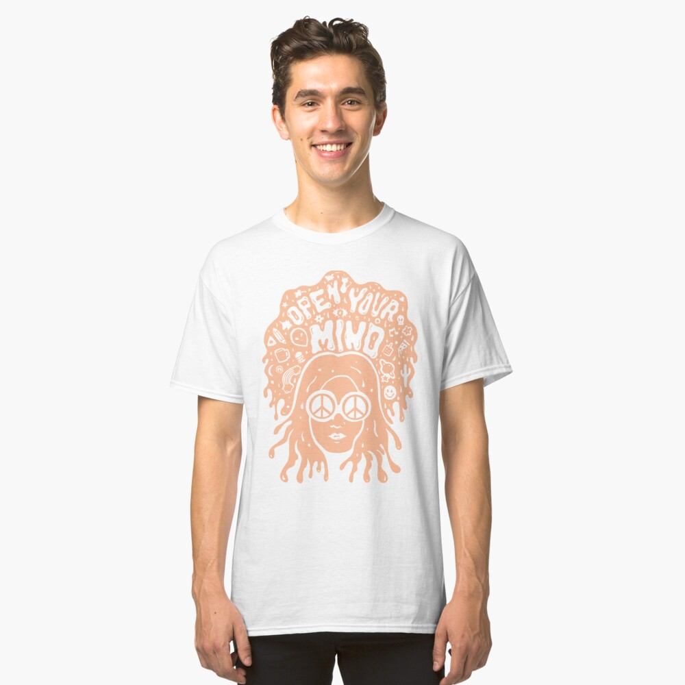 Open Your Mind in Orange Classic T-Shirt