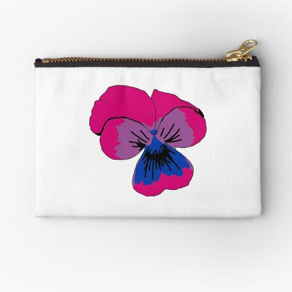 Bisexual Pride Flower Zipper Pouch