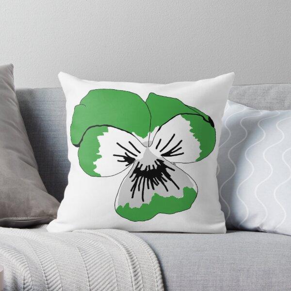 Demiromantic Pride Flower Throw Pillow