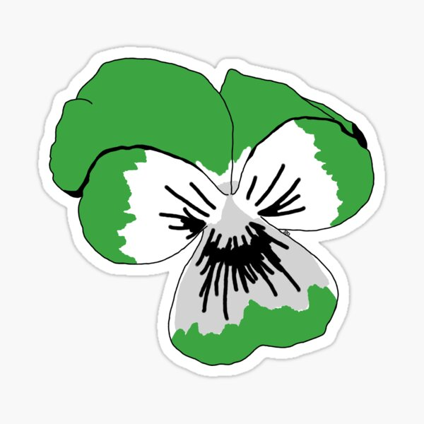 Demiromantic Pride Flower Sticker