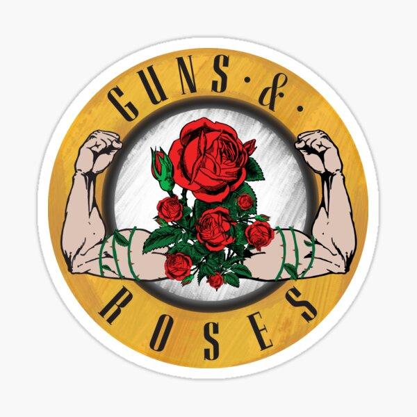 Pistolas y rosas Pegatina