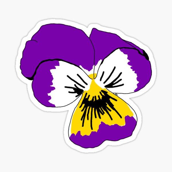 Intersex Pride Flower Sticker