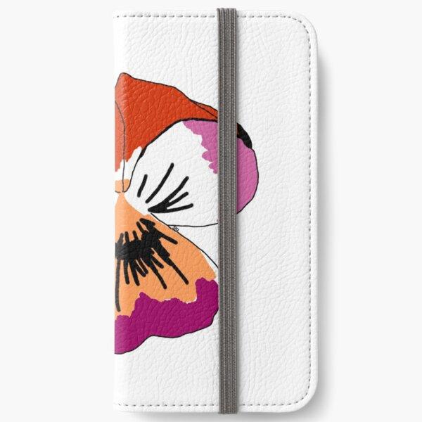 Lesbian Pride Flower iPhone Wallet