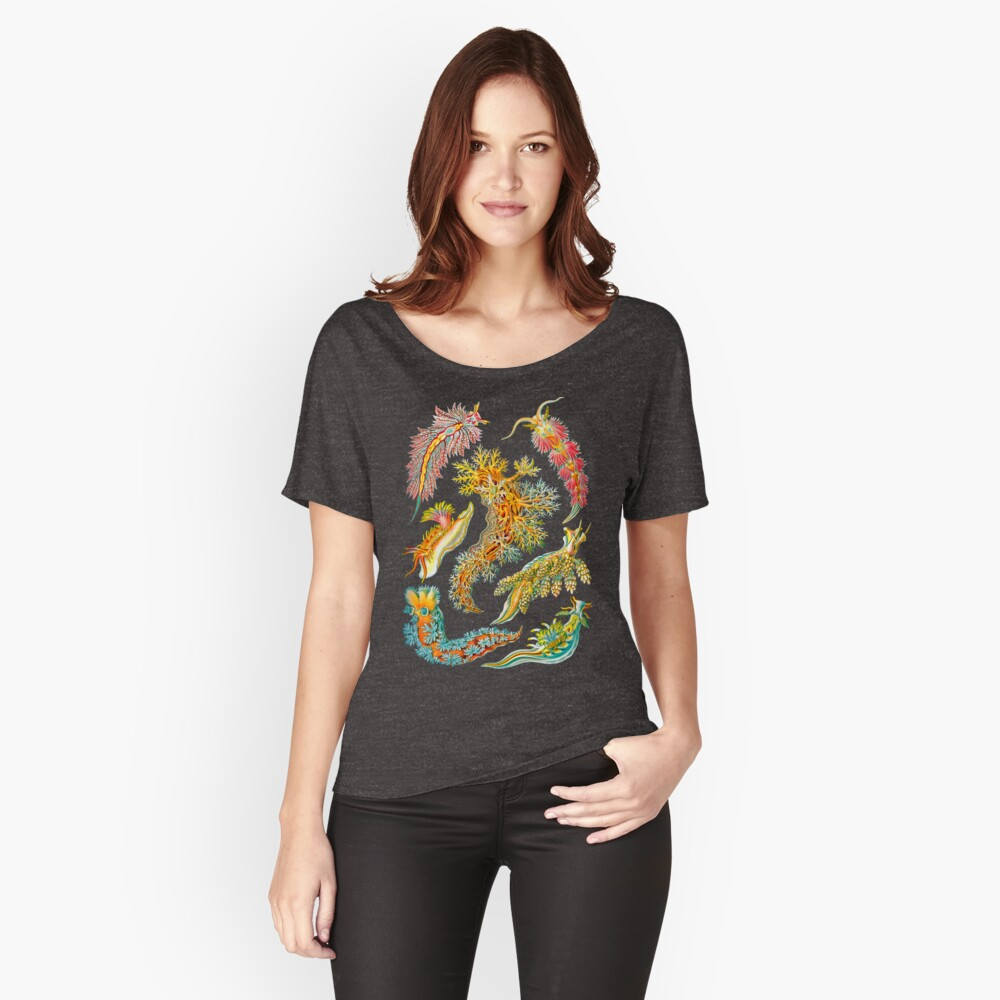 Ernst Haeckel Nudibranch Sea Slugs Relaxed Fit T-Shirt