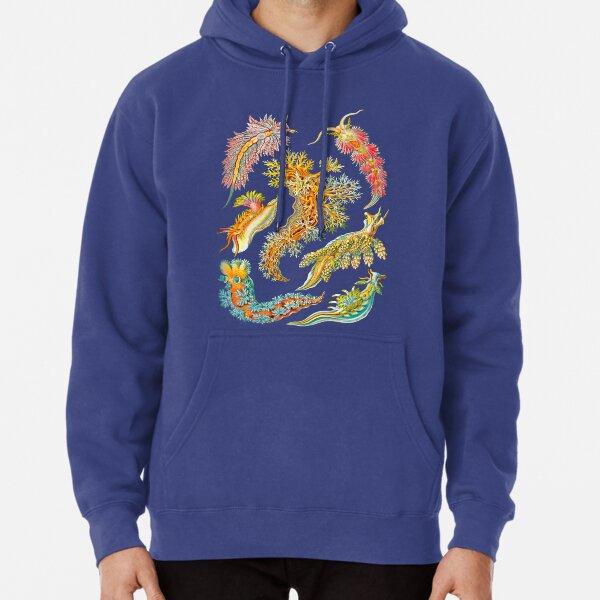 Ernst Haeckel Nudibranch Sea Slugs Pullover Hoodie