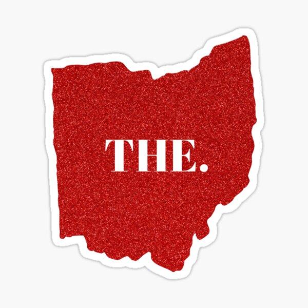 Ohio Red Glitter THE. Sticker