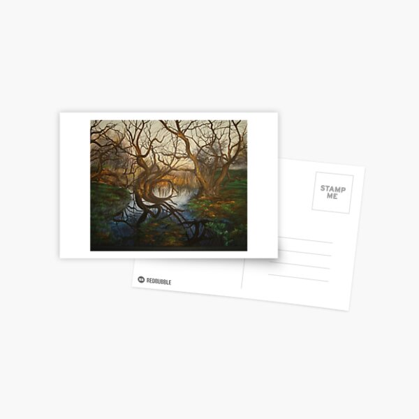 Eerie trees  Postcard