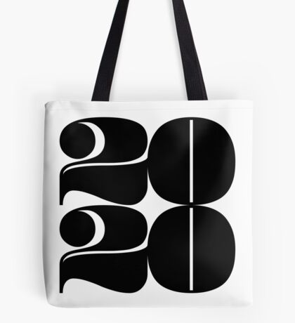 2020 Year | Typography | Square Tote Bag