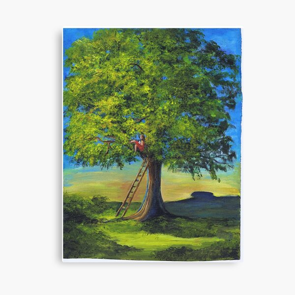 High in the linden tree Canvas Print