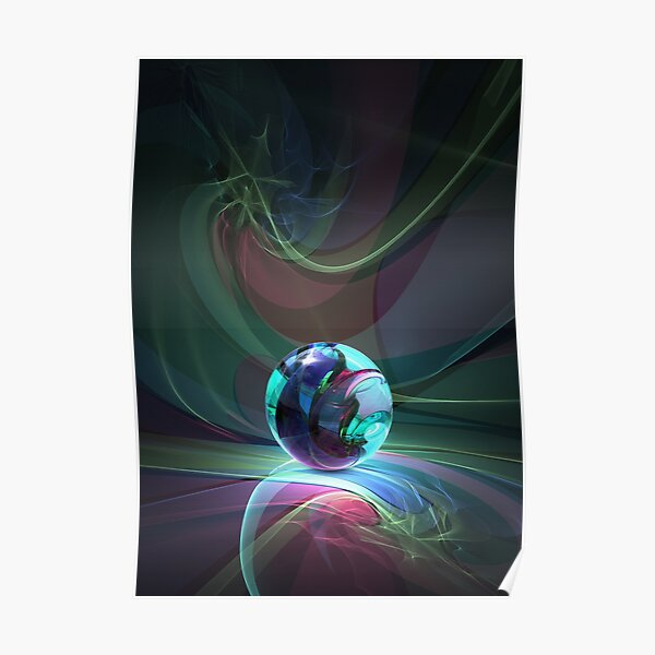 Caustics Madness - Marbles Poster