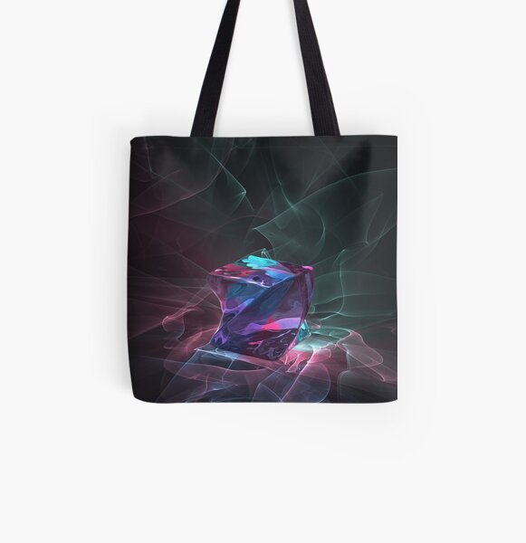 Caustics Madness - Screwed Cube All Over Print Tote Bag
