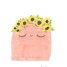 Sunflower Crown Blob by Avé Rivera