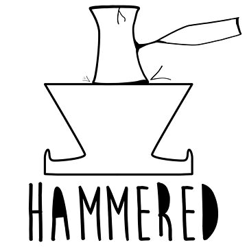 'HAMMERED' Simple but cool Grunge Rock Design by doughballdesign