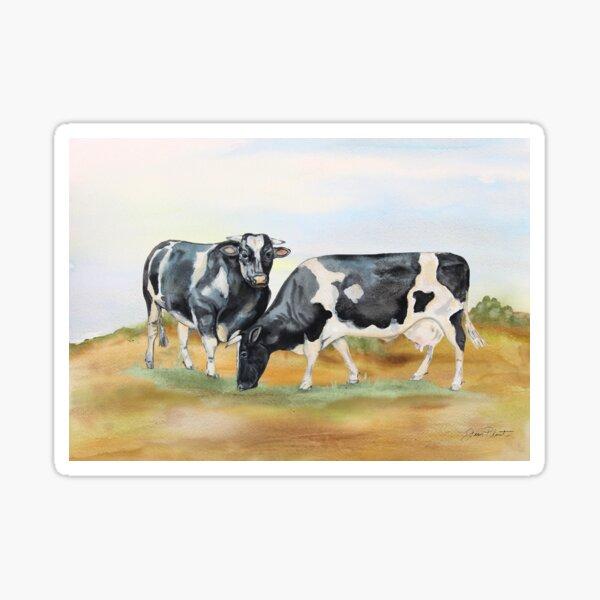 Farm Animals In The Pasture-Cows Sticker