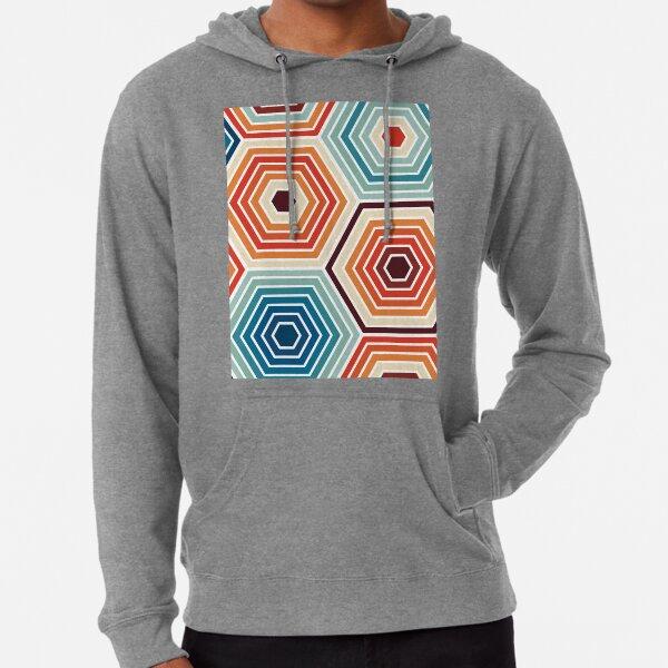 Seamless Hexagon Geometric Pattern Lightweight Hoodie
