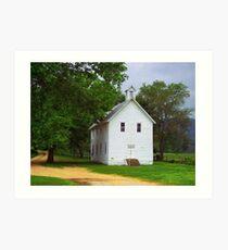 Lone Church, Boxley River Valley, Arkansas Art Print