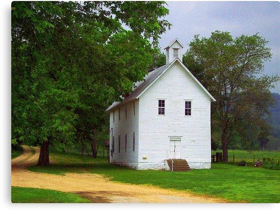 Lone Church, Boxley River Valley, Arkansas by David  Hughes