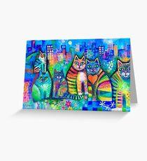 Urban cats 2 Greeting Card