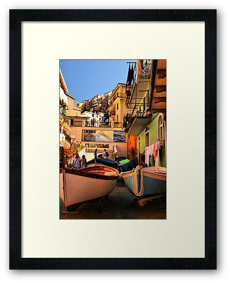 Streets of Manarola by Barbara  Brown