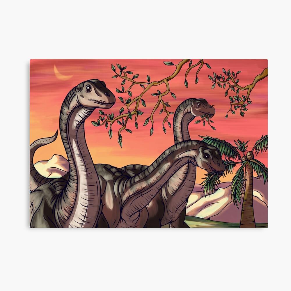 Lamina Metalica Dinosaurios Al Atardecer De Thekohakudragon Redbubble Lh dinosaurios al atardecer (casa del arbol). lamina metalica dinosaurios al atardecer de thekohakudragon redbubble