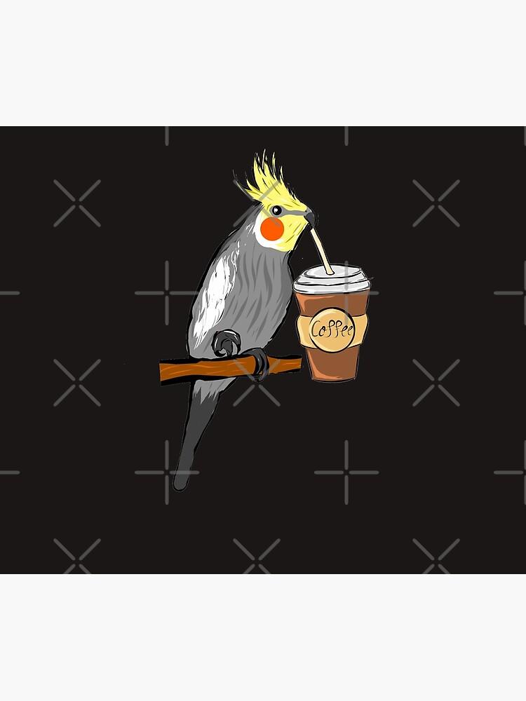 Cockatiel - coffee - bird - budgerigar by quali-shirts