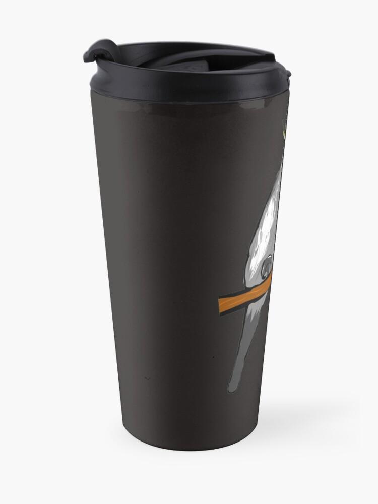 Alternate view of Cockatiel - coffee - bird - budgerigar Travel Mug