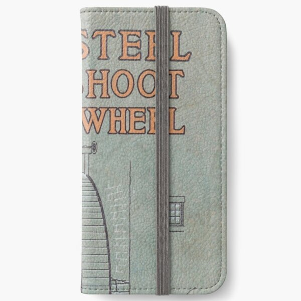 Vintage Water Wheel Catalog Cover iPhone Wallet