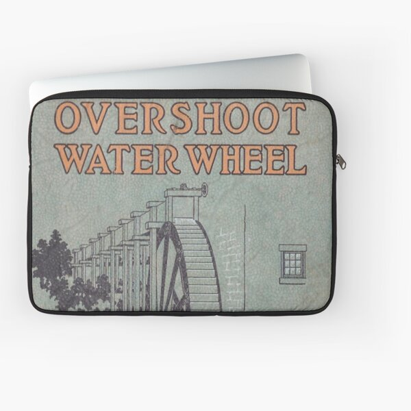 Vintage Water Wheel Catalog Cover Laptop Sleeve