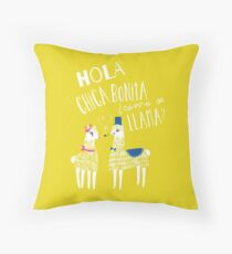 Hola Chica Bonita Poster Throw Pillow